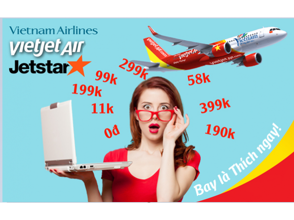 Vé máy bay giá rẻ chỉ với 199K
